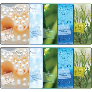 Genic Co., Ltd. Pure Tree Facial Mask Sheet Type Facial Mask (Pack of 10)