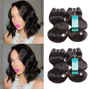 UDU Short Body Wave Bundles 8A Brazilian Virgin Hair Body Wave 4 Bundles Short Wavy Hair 50g/pc 8