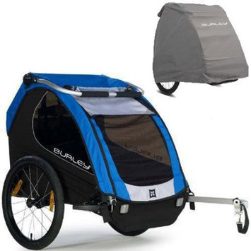Burley Encore Trailer with Storage Cover - Blue