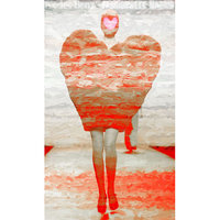 Marmont Hill 'Heart Walk 2' Painting Print on Wrapped Canvas