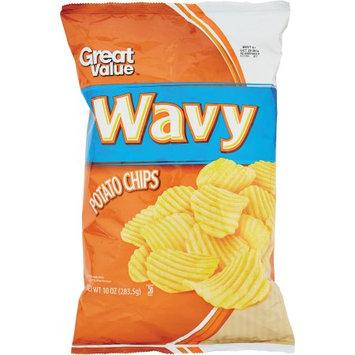 Great Value: Ripple Cut Potato Chips, 12 Oz