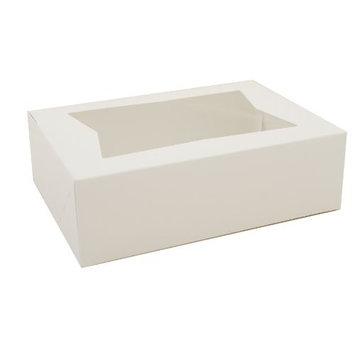 Southern Champion Tray 24003 Paperboard White Window Bakery Box, 8