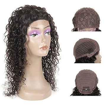 RISSING HAIR 8A Remy 130% Density Pre Plucked Brazilian Water Wave Lace Closure Front Wigs With Baby Hair for Black Women On Sale,Soft Natural Pre Plucked Hairline Curly Brazilian Virgin Hair 12