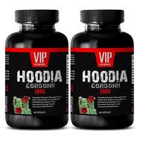 Fat burning pills for her - HOODIA GORDONII EXTRACT 2000mg - Hoodia 2000 - 2 Bottles 120 Capsules