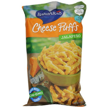 Barbaras Barbara's Bakery, Cheese Puffs, Jalapeño, 7 oz (pack of 4)
