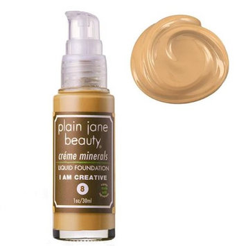 Plain Jane Beauty 232012 I Am Creative 8 Creme Minerals Liquid Foundation