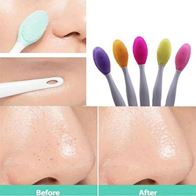 LtrottedJ 2pcs Silicone Beauty Wash, Face Exfoliating Blackhead Facial Cleansing Brush Tool