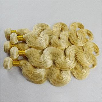 Quercy Hair Brazilian Virgin Hair Body wave #613 3 bundles/lot 100g/pc Blonde Hair Extensions 100% Human Hair Weave
