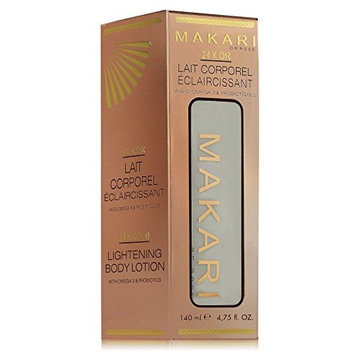 Makari 24K Gold beauty Milk - Lightening Body lotion with omega 3 & Probiotics - Great for Anti Aging, Lightening, Stretch Marks, and removes scars.