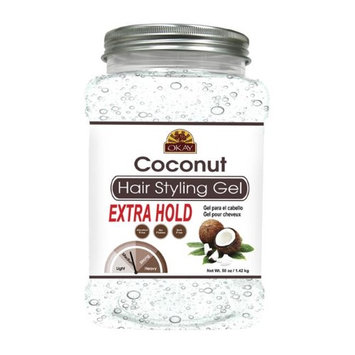 Okay OKAY-COCOGX50 50 oz Coconut Hair Styling Gel Extra Hold
