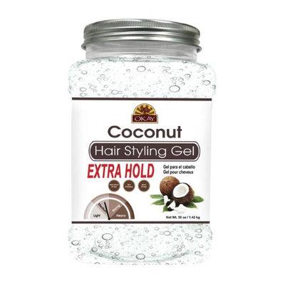 Okay OKAY-COCOGX50 50 oz Coconut Hair Styling Gel Extra Hold