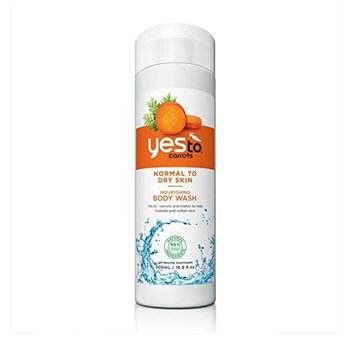 Yes To Carrots For Normal To Dry Skin Nourishing Body Wash, Classic Carrot Scent, 16.9 oz + FREE Luxury Luffa Loofah Bath Sponge On A Rope, Color May Vary