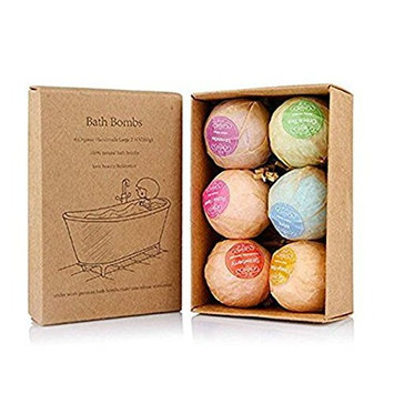 Hecentur Bath Ball Gift Set Handmade Spa Ball Fizzies with Essential Oils for Aromatherapy, Relaxation, Moisturizing, Best Gift Kit Ideas for Girlfriends, Women, Moms