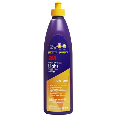 Nexcare 3M 36109 Perfect-It Gelcoat Light Cutting Polish + Wax, 1 Pint