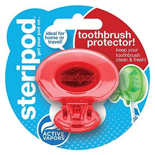 Steripod (Single Pack Red) Clip-On Toothbrush Protector