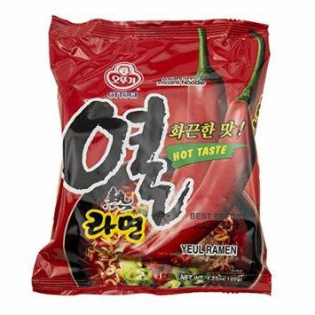 Ottogi Yeul Ramen Noodles, Hot Pepper Flavor, 4.23 Ounces (Pack of 20)