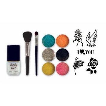 Debra Lynn Professional 6 Colors Glitter Body Tattoo Professional Kit