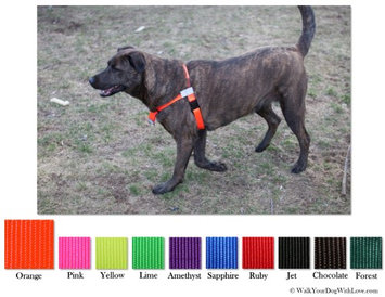 Walk Your Dog With Love No-Choke No-Pull Front-Leading Dog Harnesses, Sport Edition, Sizes From 5 to 250 lbs, Hunter Orange