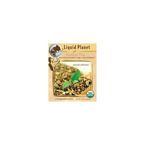 Liquid Planet Organic Teas - Premium Full-Leaf, Caffeinated Black Tea - MUMBAI CHAI - 1lb. Bulk [Mumbi Chai]