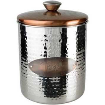 Hammered Stainless Steel & Copper Top Treat Jar, 16oz