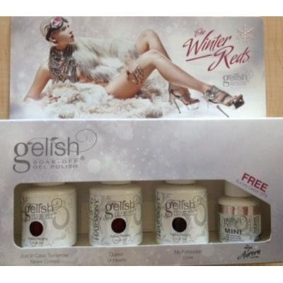 Gelish Winter Reds 4 pc Collection NEW 2011 Nail Harmony