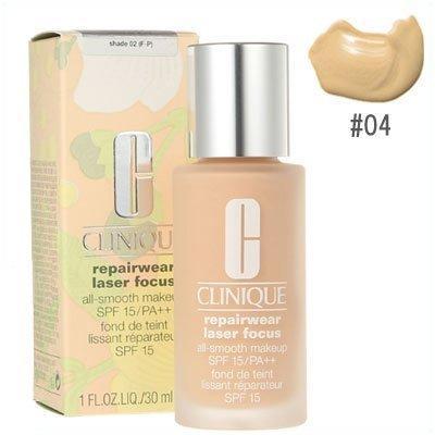 Clinique Repairwear Laser Focus All Smooth Makeup SPF 15/ PA +++ Shade 04 (M-G), 1oz, 30ml