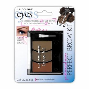 (6 Pack) LA COLORS Perfect Brow Kit - Medium