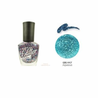 (6 Pack) LA GIRL Glitter Addict Polish - Aqueous