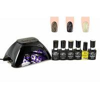 UV-NAILS BEST Salon Quality UV Gel Polish Starter Kit with LED Lamp Colors: GL-9, GL-18, GL-15