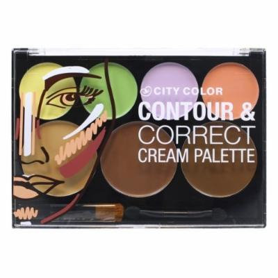 (3 Pack) CITY COLOR Contour & Correct Cream Palette - All-In-One