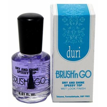 Duri Brush-N-Go Fast Dry Top Coat 0.6oz (3 Pack) by Duri Cosmetics