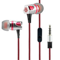 Cliptec Silver FORCE Gaming Stereo 3.5mm Wired In-Ear Headphones Noise Isolation In-line Control Mic