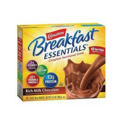 Nestle healthcare nutrition inc Carnation Breakfast Essentials, Rich Milk Chocolate Part No. 50000530325 Qty 10 Per Box