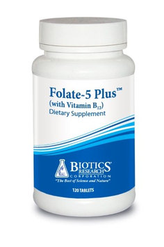 Biotics Research Folate-5 Plus with B12 120 Tablets