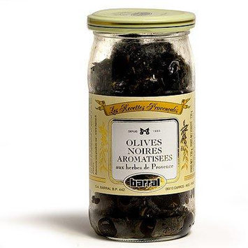 Barral French Cured Black Olives with Herbes de Provence 7 oz.