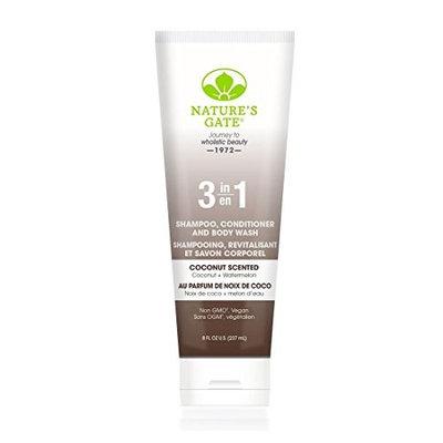 Nature's Gate 3-In-1 Shampoo Conditioner and Body Wash, Coconut, 8 fl. oz.