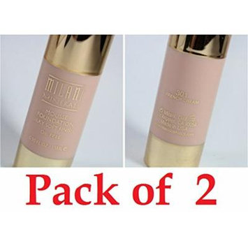 MILANI Minerals Mousse Foundation- 301 French Cream (Pack of 2)