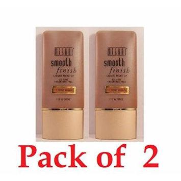 Milani Smooth Finish Liquid Make up, 11 Honey Bronze, Pack of 2