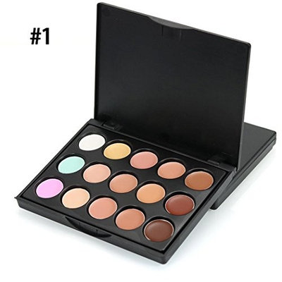 LiPing MIni15 Colors Makeup Concealer Foundation Cream Cosmetic Palette Set Tools With Brush