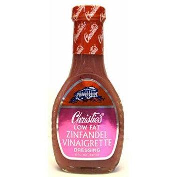 Christie's Low Fat Zinfandel Vinaigrette Dressing (Pack of 3) 8 oz Bottles