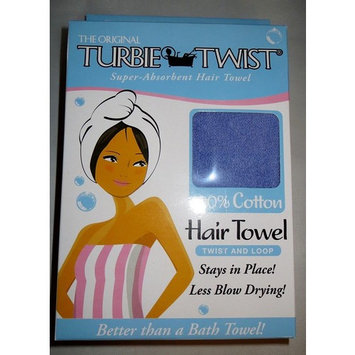 TURBIE TWIST ORIGINAL 100% COTTON SUPER ABSORBENT HAIR TOWEL IN 4 SOLID COLORS (Purple)