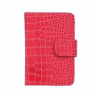 Danielle Creations Large Crocodile Texture Pill Organizer Book, Pink