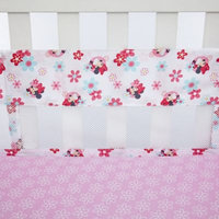 Disney Minnie's Garden Secure-Me Mesh Crib Liner