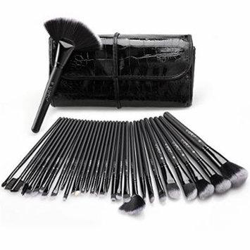 Makeup Brush Set, USpicy 32 Pieces Professional Makeup Brushes Essential Cosmetics With Case, Face Eye Shadow Eyeliner Foundation Blush Lip Powder Liquid Cream Blending Brush