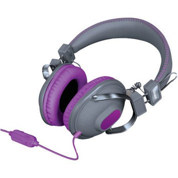 Isound Dghm-5524 Hm260 Dynamic Stereo Headphones With Microphone [gray/purple]