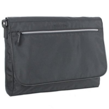 Kenneth Cole RFID Fold Over Messenger Bag 16 Inch, Black