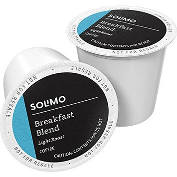 Amazon Brand - 100 Ct. Solimo Light Roast Coffee Pods, Breakfast Blend, Compatible with 2.0 K-Cup Brewers [Breakfast Blend]