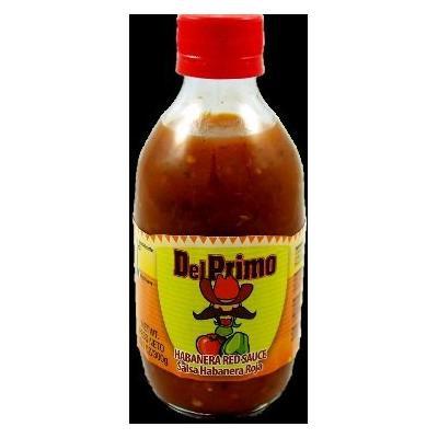 Del Primo Salsa Sauce 10.5oz Bottle (Pack of 6) Choose Flavor Below (Salsa Habanera Roja - Habanero Red Sauce)