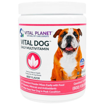 Vital Planet, Vital Dog Daily Multivitamin, Beef Flavor, 2.64 oz (75 g)