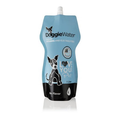 Doggiewater, Inc DoggieWater - No Flavor, 4 Pack of 1 Liter